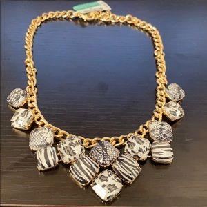 Inc Gold-Tone Square Stone Necklace
